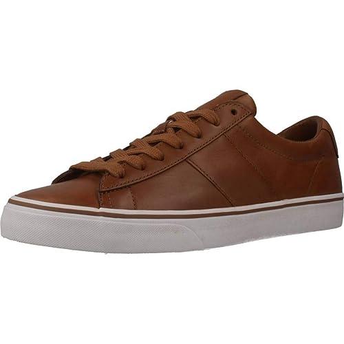 Polo Ralph Lauren Sayer Hombre Zapatillas Tostado: Amazon.es: Zapatos y complementos