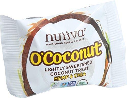 Nutiva Organic O Coconut Bar – Hemp and Chia – .5 oz – Case of 24 For Sale
