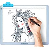 "Craftymint Large Ultra Thin 19"" LED Light Pad - Portable USB Powered - Multi-Stage Brightness Provides Clarity and Reduces Eye Strain - Perfect for Diamond Painting, Drawing, Sketching and Tracing"