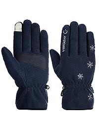 Vbiger Winter Warm Gloves Touch Screen Gloves Winter Sport Gloves for Men and Women (M, blue)