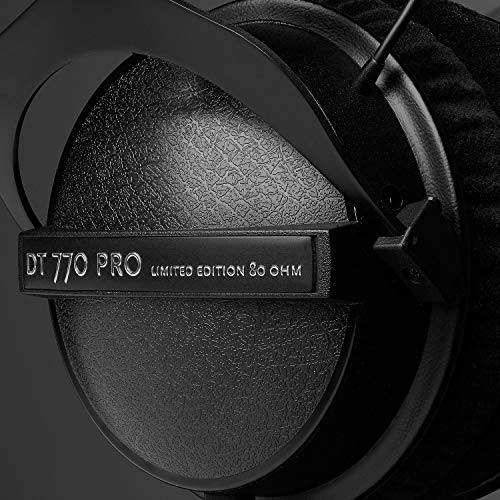 51gSGlyHhNL - beyerdynamic DT 770 Pro 80 Limited Edition Headphones, Black