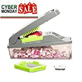 Onion Chopper Pro Vegetable Chopper by Müeller - Strongest - NO MORE TEARS 30% Heavier Duty Multi Vegetable-Fruit-Cheese-Onion Chopper-Dicer-Kitchen Cutter