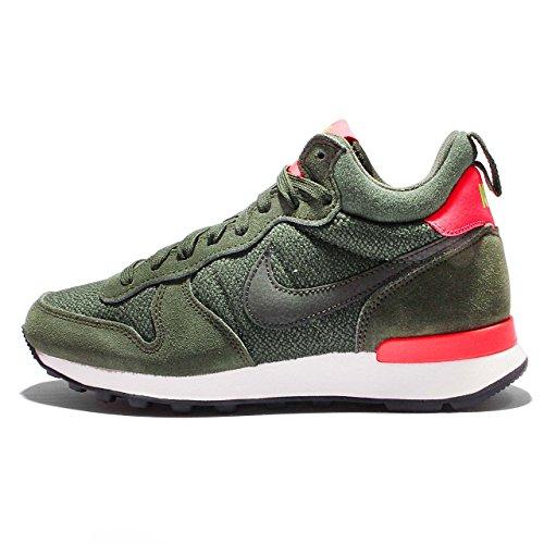 Nike Femmes Internationaliste Wmns Mid, Carbone Vert / Sq-bright Crimson-cybr, 6 Us