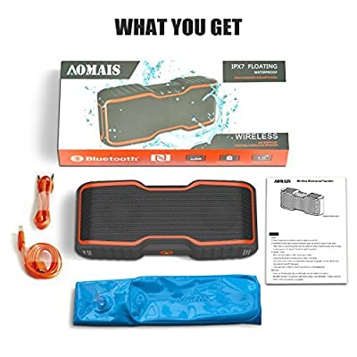 AOMAIS Sport II Portable Wireless Bluetooth Speakers 4.0 with Waterproof IPX7,20W Bass Sound,Stereo Pairing,Durable Design for iPhone /iPod/iPad/Phones/Tablet/Echo dot,Good Gift from JWH