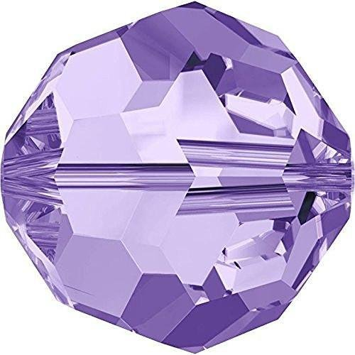 - Swarovski 5000 Crystal Beads Round Tanzanite | 6mm - Pack of 20 | Small & Wholesale Packs