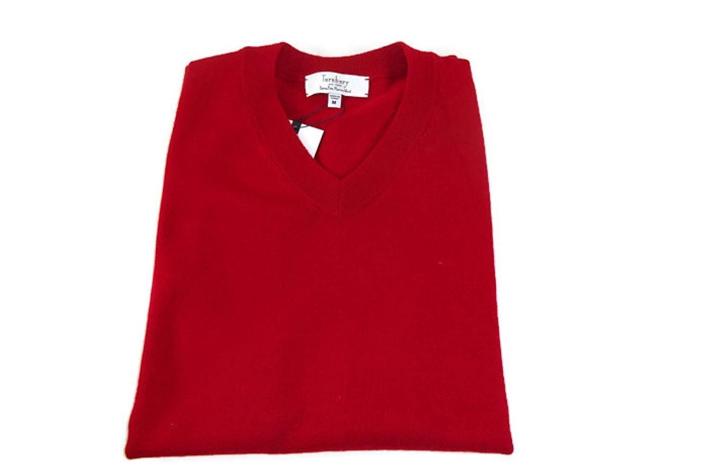 Turnbury Merino Wool V-Neck Sweater Vest Tru Red