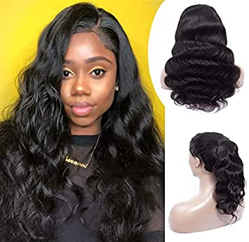 Amazon.com   Lace Frontal Wigs For Black Women Human Hair Wigs Pre plucked  Glueless Brazilian Virgin Human Hair Wigs for Women (150% Density 14inch  Body ... 2dd8a35421