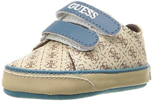 Guess Kids Shoes (GUESS Boys' Finn 3 Sneaker, Beige/Black, 17 EU/2 M US Infant)