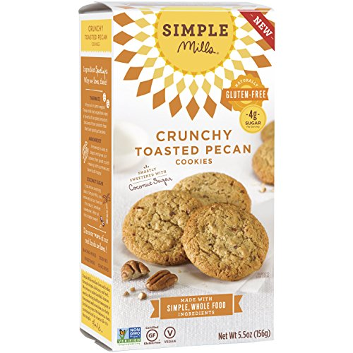 Simple Mills Naturally Gluten-Free Crunchy Cookies, Toasted Pecan, 5.5 oz