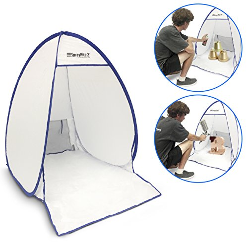 SPRAYRITE 2 – Paint Spray Shelter - Spray Booth Painting Tent - Small Furniture Paint Stain Shelter - Portable for Home Use and Stores Easily - Great for Woodworking - Set up Size is 3' X 3.4' X 2.5'