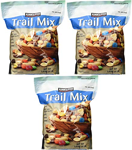 Signature Trail Mix, Peanuts, M and M Candies, Raisins, Almonds and Cashews, 4 Pound (249965) Pack of 3