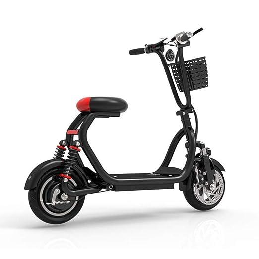 ZGYQGOO Scooter eléctrico Plegable, Bicicleta eléctrica-34 ...