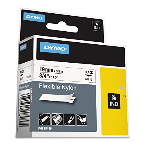 DYMO 18489 Rhino Flexible Nylon Label Tape, 3/4