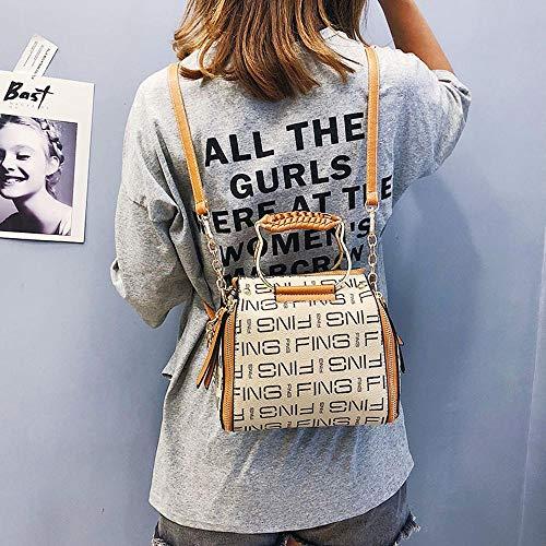Vuelta cm YT Brown 20 18 Moda única Mujeres Bandolera Superior Bolso Y Bolsos Hombro Mujer en 13 4RqZzg