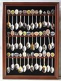 Tea Spoon Souvenir Spoon Display Case Rack Cabinet, Real Glass
