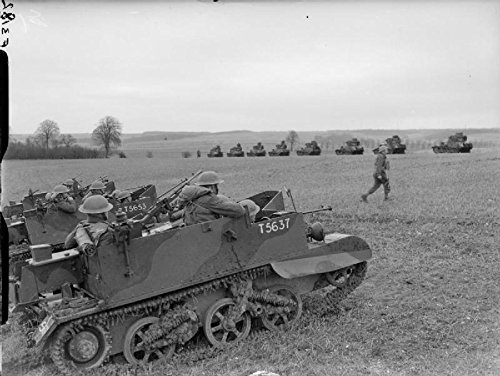 The British Army in France 1940 Scout carriers of 51st Highland Division with Light Tank Mk VIs of 1... (Highland Tank)