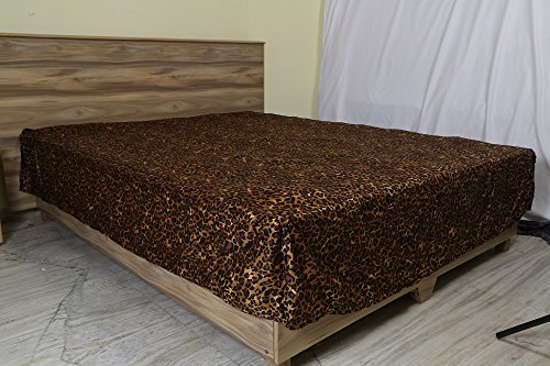 - ARlinen (1 Qty Split Corner Bed Skirt Only,Leopard Print,King Size,Pocket Drop 21 inches 100% Egyptian Cotton Luxurious 650 Thread Count