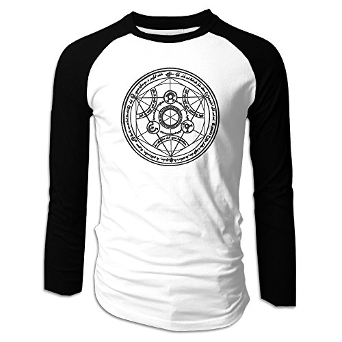 Fullmetal Alchemist: Brotherhood Entertainment Men's Long Sleeve Baseball Tee Shirts Round Collar