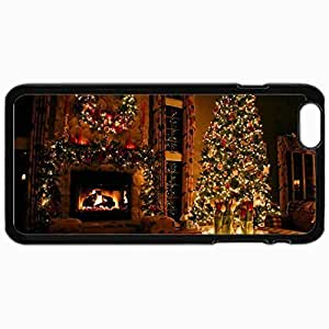 Customized Cellphone Case Back Cover For iPhone 6 Plus, Protective Hardshell Case Personalized Cozy Christmas Black