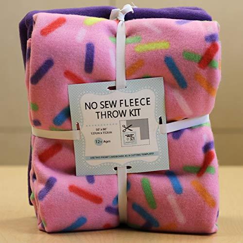 Sprinkles No-Sew Throw Fleece Fabric Kit (50x60)