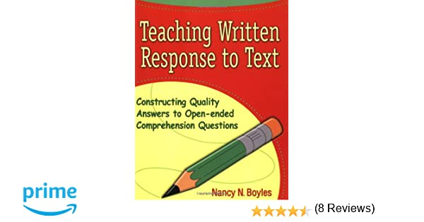 Amazon.com: Teaching Written Response to Text: Constructing ...