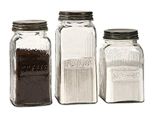 Amazon.com: Set of 3 Vintage Style Coffee, Flour and Sugar