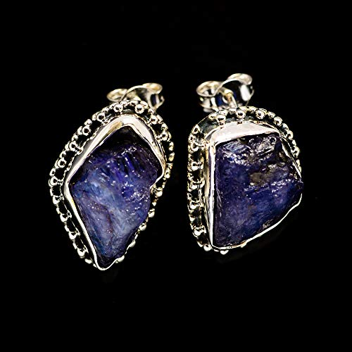 Ana Silver Co Rough Tanzanite 925 Sterling Silver Earrings 3/4