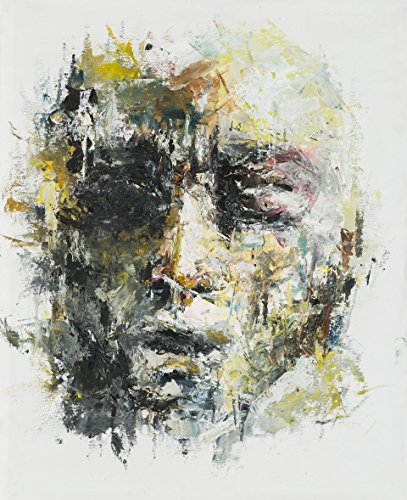 Shai Yossef Unframed extra-large print on canvas by the artist, wall art decor,decorative,Art Collectibles special abstract man face portrait 80/60cm (31.4