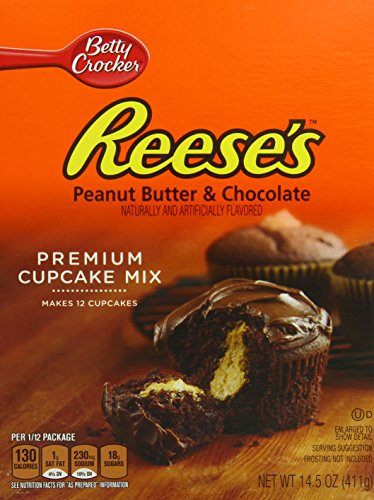 Betty Crocker Cupcake Mix Reese's Peanut Butter & Chocolate 14.5 oz Box (pack of 8)