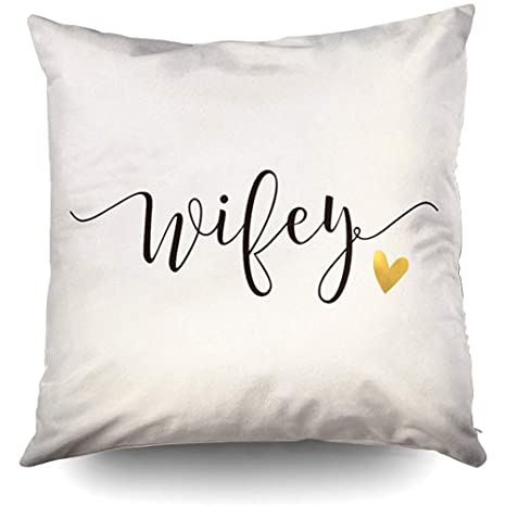 Amazon.com: Wifey Hubby and Wifey Funda de almohada ...