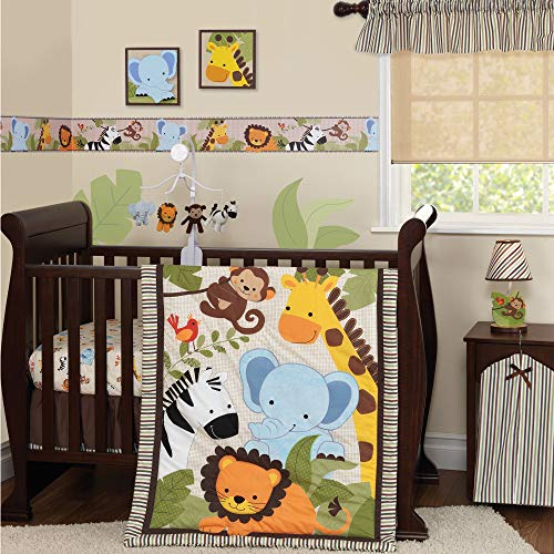 Bedtime Originals Jungle Buddies 3 Piece Crib Bedding Set, B