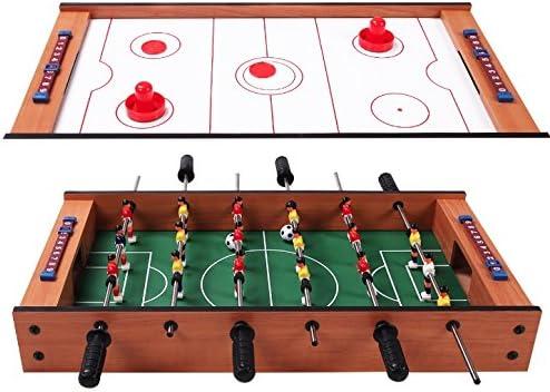 Mesa de fútbol de futbolín 2 en 1, mesa giratoria multijuego para ...