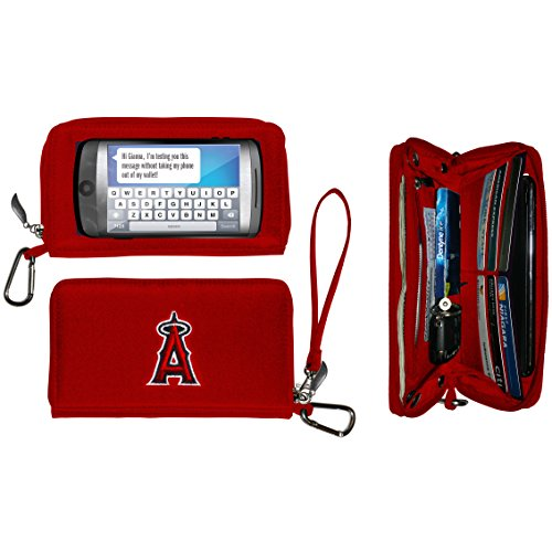 Charm14 MLB Los Angeles Angels Deluxe Cell Phone Wallet-Fits All Phones