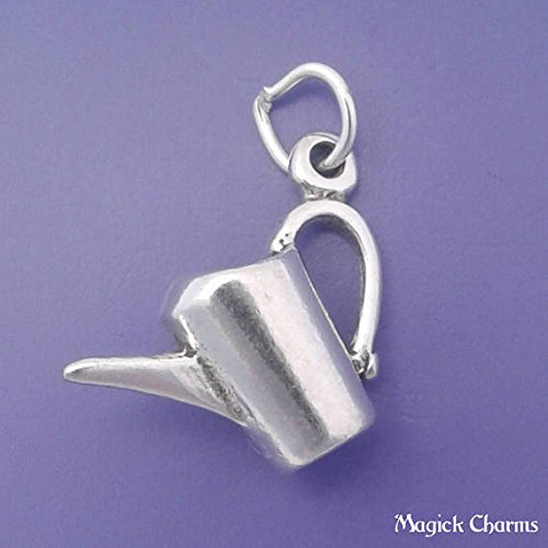 Watering CAN Charm 925 Sterling Silver Gardening 3-D Pendant Jewelry Making Supply, Pendant, Charms, Bracelet, DIY Crafting by Wholesale Charms