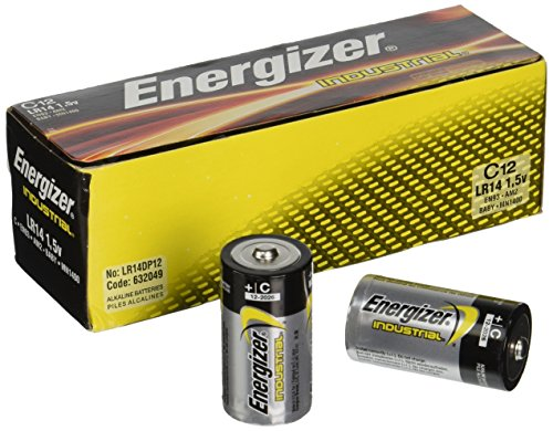 Energizer C Alkaline Industrial Batteries, Box Of 12 (Industrial Alkaline Batteries)