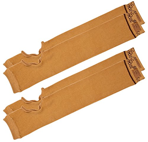 SecureSleeves® (2 Pairs) Geri Sleeves for Arms, Brown - Protects Sensitive Skin from Tears & Bruising (Small: 14.5