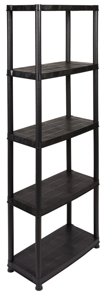 Plastic Shelving Unit with 5  Shelves Load with up to 25  kg per Shelf. Dimensions: 60  x 30.5  x 170  cm TÜ V Rheinland Kreher