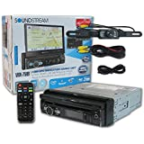 Soundstream VRN-75HB 1-DIN Single DIN 7 Touchscreen GPS DVD Car Stereo Bluetooth + Wireless Remote & DCO Waterproof Backup Camera with Nightvision