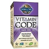 Garden of Life Zinc Vitamin - Vitamin Code Raw Zinc Whole Food Supplement with Vitamin C, Vegan,
