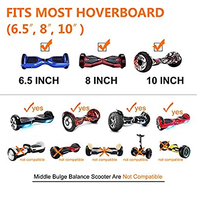 Better wheels Mini Kart Hoverboard Accessories for Adjustable All Heights All Ages Self Balancing Scooter -Compatible with All Hoverboards (Black) Transform Scooter Into Go-Kart: Toys & Games