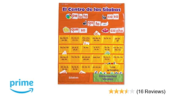 Amazon.com : Learning Resources El Centro de las Silabas (Spanish Syllables) Pocket Chart : Classroom Pocket Charts : Office Products