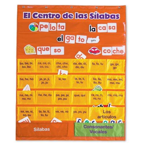 Learning Resources El Centro de las Silabas (Spanish Syllables) Pocket Chart]()