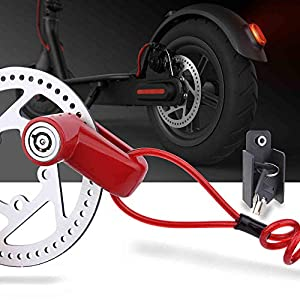 TOMALL Blocco Freno A Disco Antifurto Filo di Acciaio Serratura Per Xiaomi Mijia M365 Moto Ruote Della Bicicletta… 1 spesavip