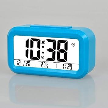 LFLB Reloj de Alarma electrónico, Reloj Inteligente, Pantalla Grande Despertador, Despertador Digital Rectangular Rural Despertador: Amazon.es: Deportes y ...