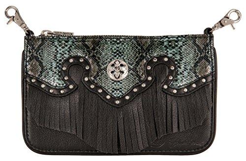 Harley-Davidson Women's Snake Charmer Leather Hip Bag w/Strap HDWBA11284-BLK ()