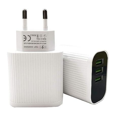 Tensay - Cargador USB (3 puertos QC 3.0, 3,5 A, con pantalla ...
