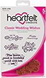 Heartfelt Creations Classic Wedding Wishes Cling Rubber Stamp