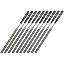 Uxcell Woodworking Tool Flat Equaling Needle Files Kit (10 Piece)