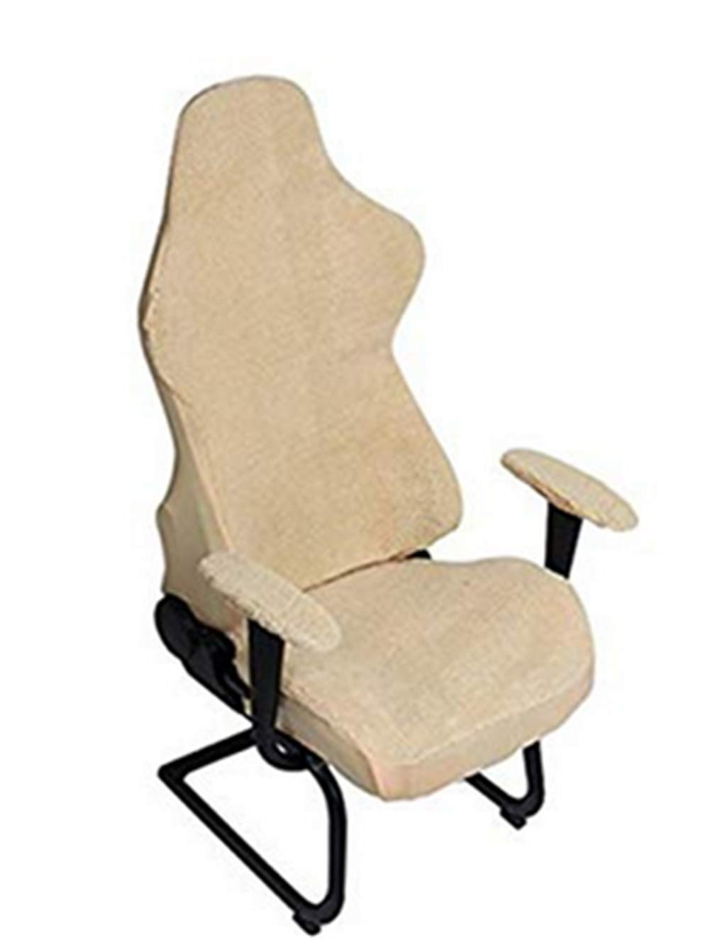 Zerci Universal Computer Chair Cover Game Racing Chair Slipcover Washable Chair Protect Cover (Beige) by Zerci (Image #1)