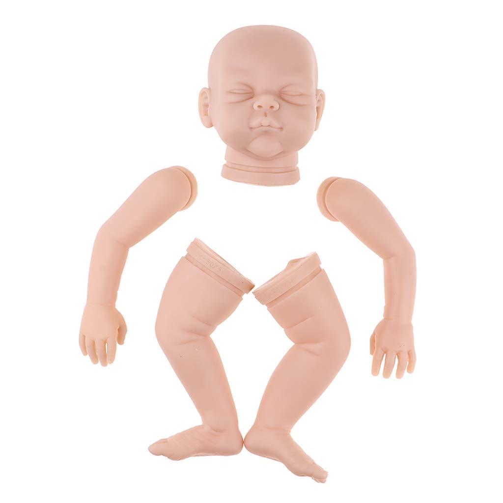 KESOTO DIY Unlackierte Neugeborenes Baby Puppe Silikon Kopf, 3 4 Arme und volle Beine unfertiges lebensechtes Baby-Modell Kit -   2, 22 Zoll B07HDMJM5L Babypuppen Sofortige Lieferung  | Billig